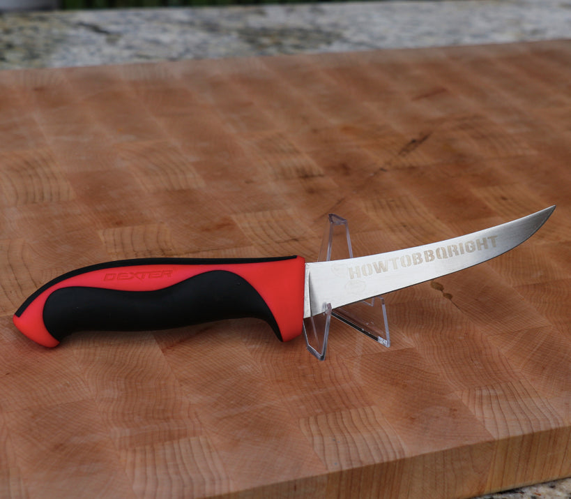 "HowToBBQRight 5"" Flexible Curved Boning Knife - Dexter Russell"