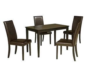 Kimonte 5 Piece Casual Dining - Dark Brown