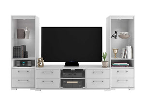 Charlotte 3 Piece Wall Unit - White
