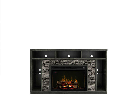 Lincoln Media Console With Fireplace