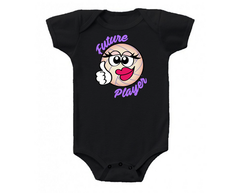 Black Future Player Volleyball Baby Onesie
