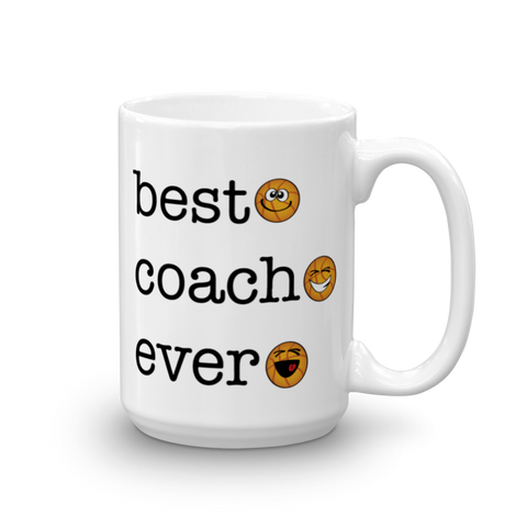 White Best Coach Ever, Basketball Sporji Mug