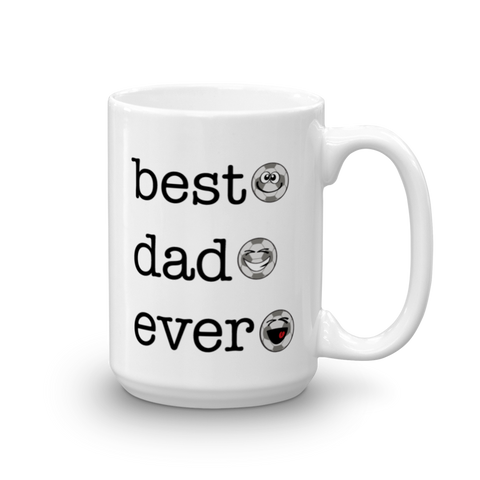 White Ceramic Best Dad Ever, Soccer Sporji Mug