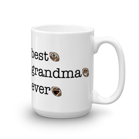 White Ceramic Best Grandma Ever, Football Sporji Mug