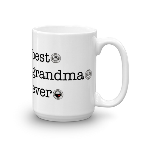 White Ceramic Best Grandma Ever, Soccer Sporji Mug