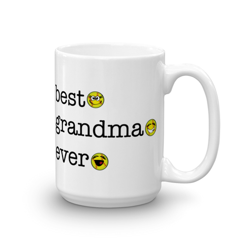 White Ceramic Best Grandma Ever, Softball Sporji Mug