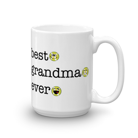 White Ceramic Best Grandma Ever, Tennis Sporji Mug