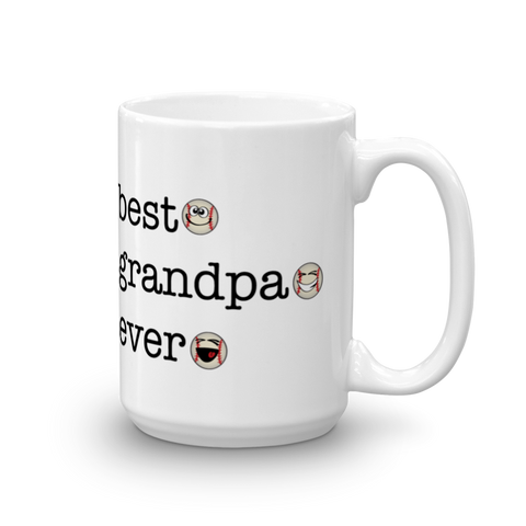Ceramic White Best Grandpa Ever, Baseball Sporji Mug