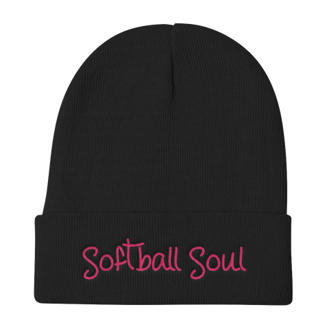 Softball Soul Embroidered Beanie