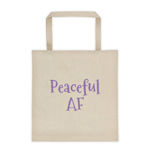Peaceful AF Tote bag