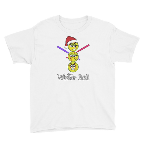 Youth Christmas Softball Winter Ball T-Shirt