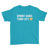 Youth Softball Sprint Hard. Turn Left  T-Shirt