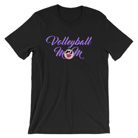 Volleyball Mom Script  Unisex T-Shirt
