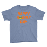 Youth Thanksgiving Happy Gobble Day Softball T-Shirt