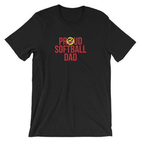 Softball Proud Dad  Unisex T-Shirt