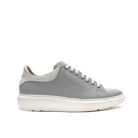Grey trainers handmade from real leather