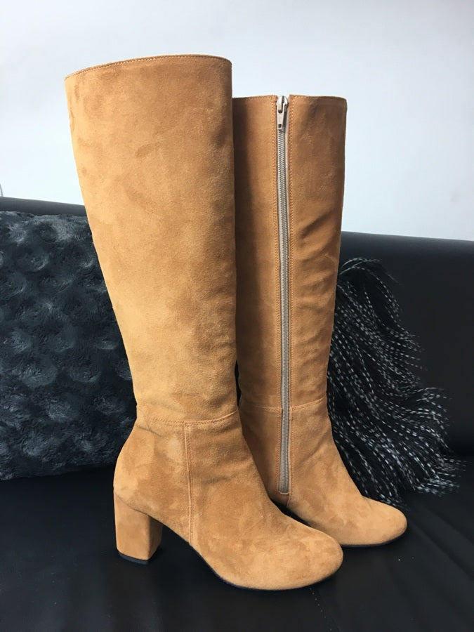 natural suede leather winter boots