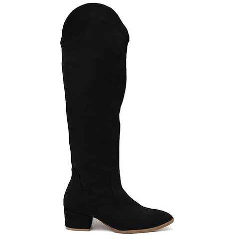 Real laeher black winter boots