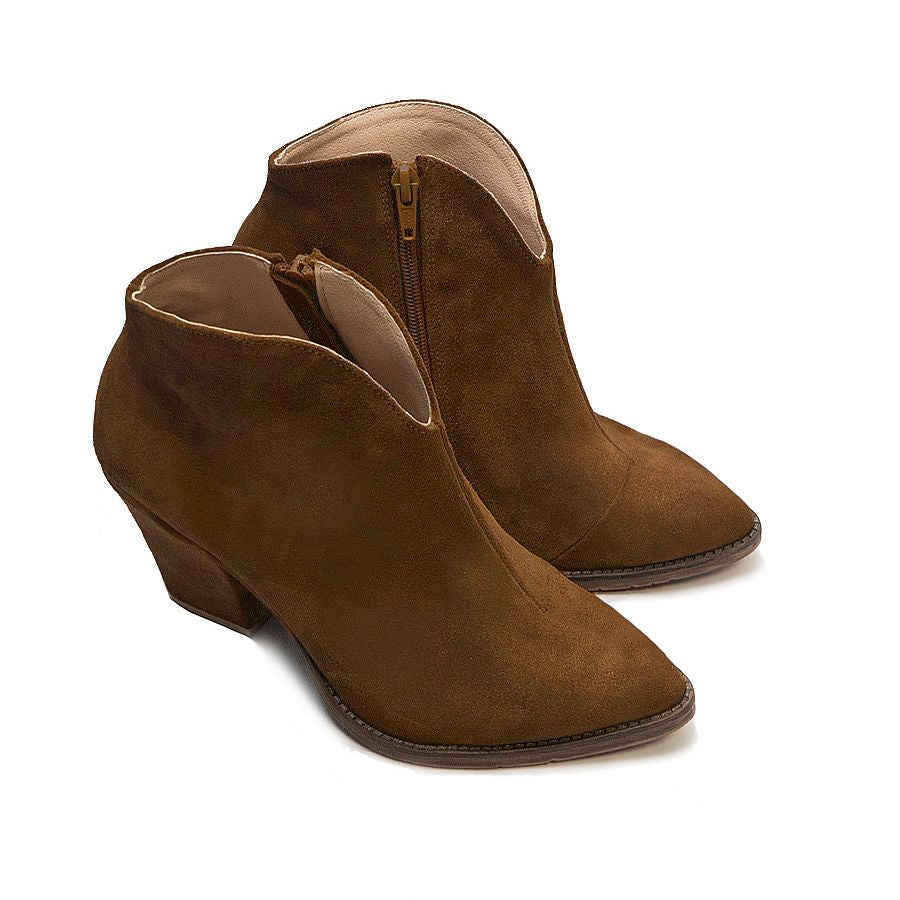 Camel real leather ladies ankle boots