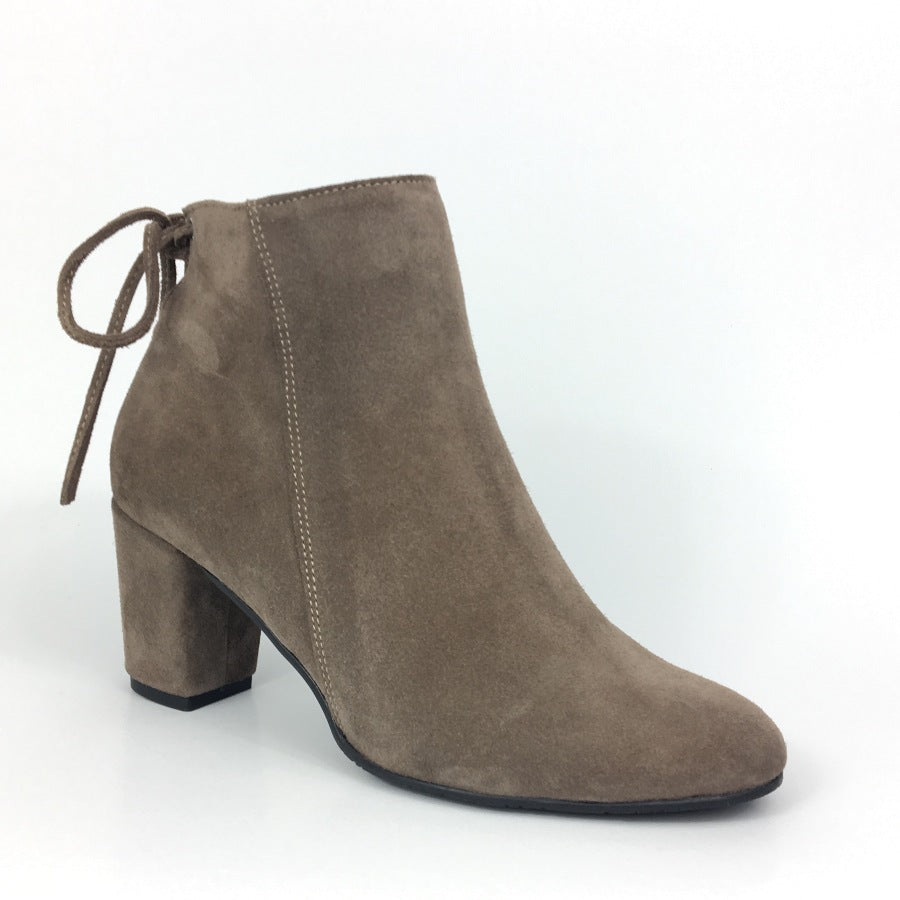 High Heel ladies ankle boots in beige colour