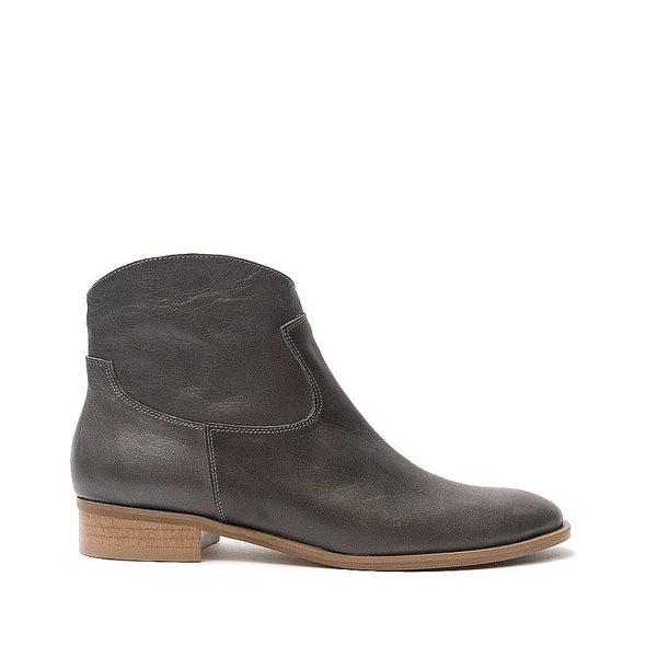 Real leather ankle boots in graphite colour