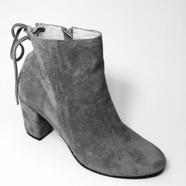 High Heel ladies ankle boots in grey colour