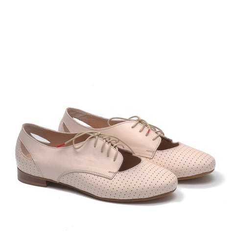 Real leather ladies flat shoes