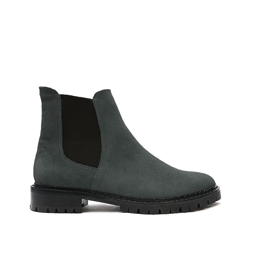 Grey chelsea boots made from quality real leather