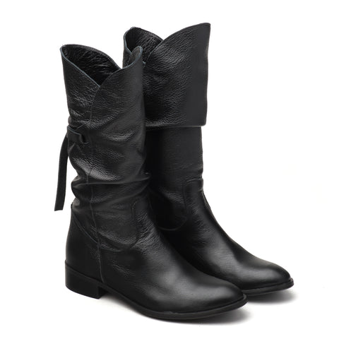 comfy real leather winter boots
