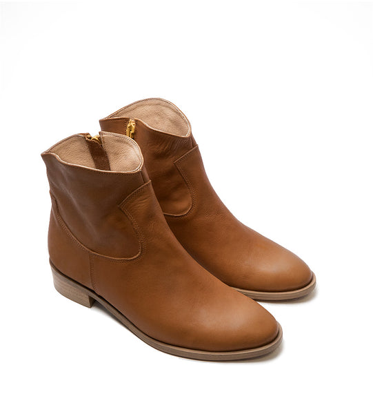 Brown real leather ankle boots great for cooler days