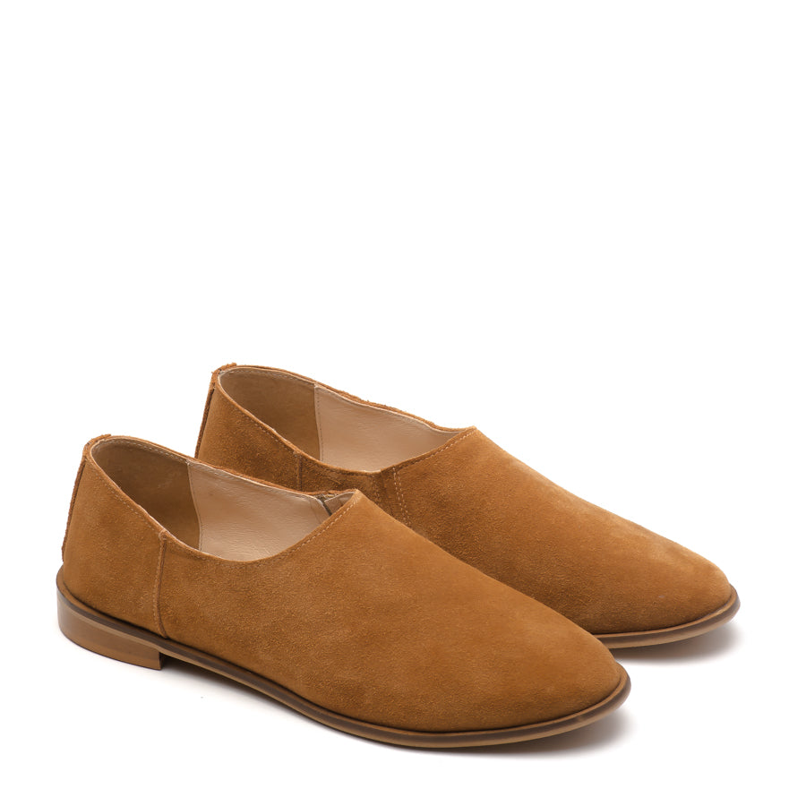 Camel real leather ladies shoes