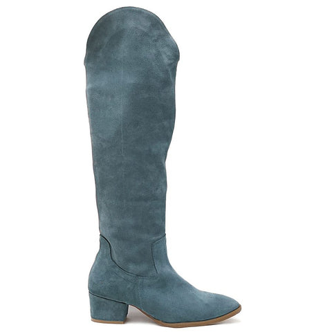 Real leather ladies winter boots handmade from quality suede leather