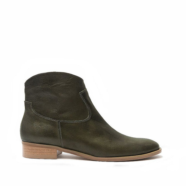 Olive green ankle boots perfect for cool days