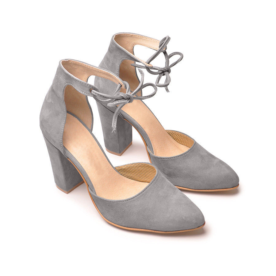 grey ladies high heels