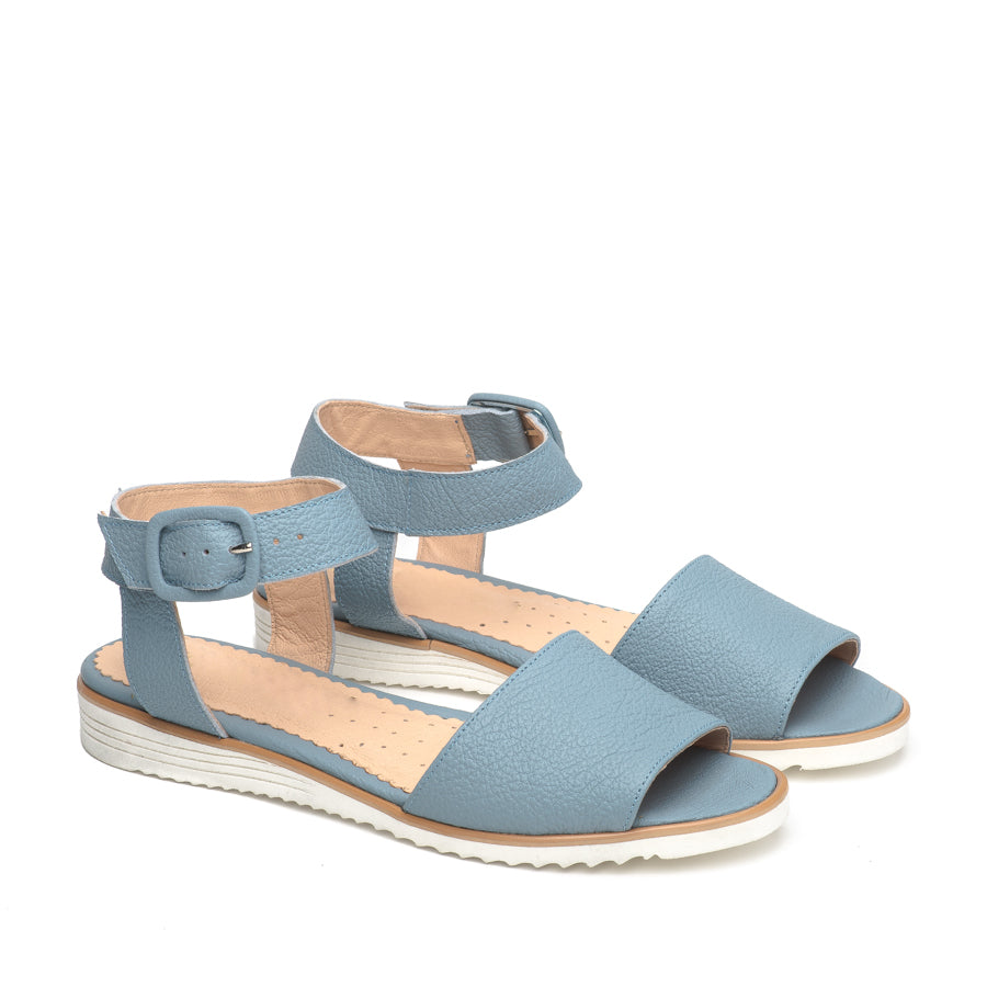 Blue sandals  handmade from quality leather