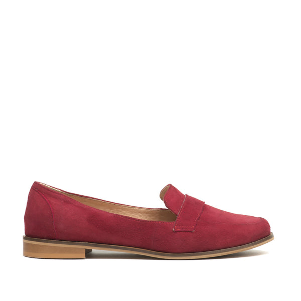 Real leather ladies loafers