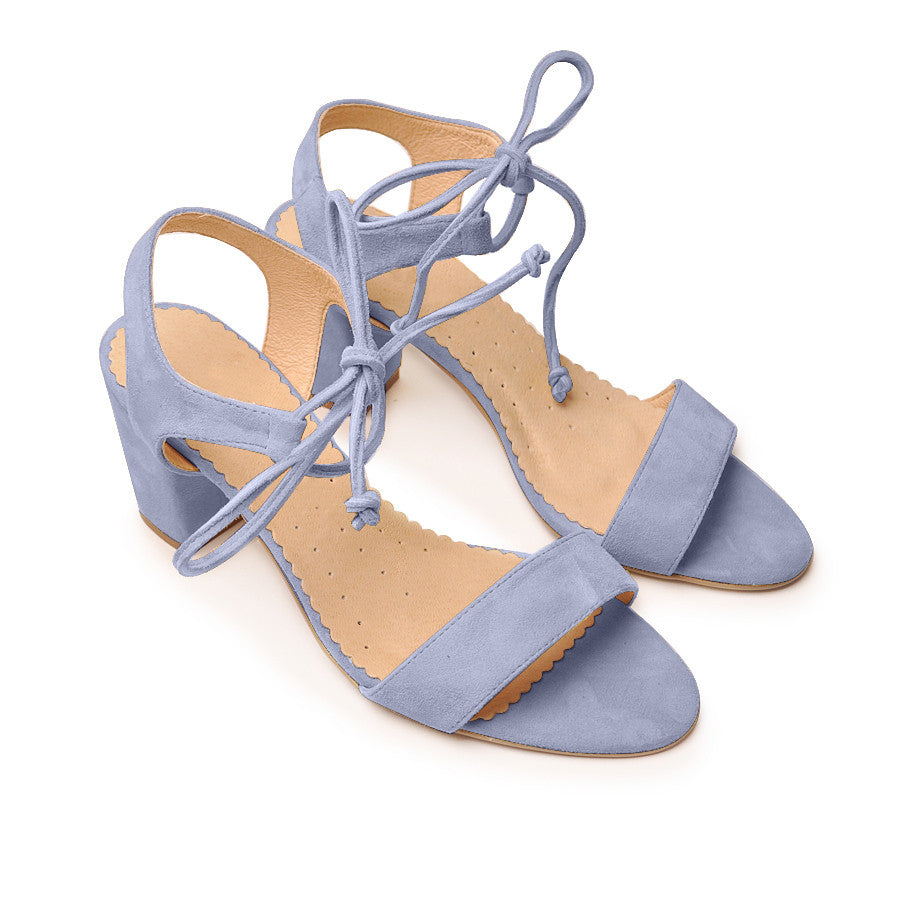 Handmade real leather ladies ankle sandals