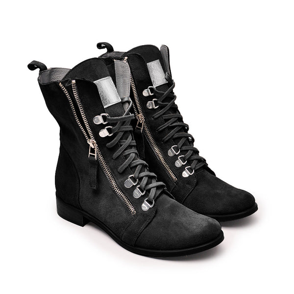 Handmade real leather ladies ankle boots