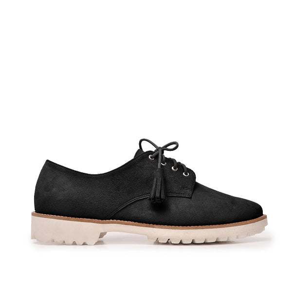 Real leather black ladies shoes
