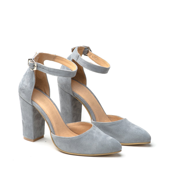Lovely grey high heel sandals great for any ocassion, perfect to dress and jeans