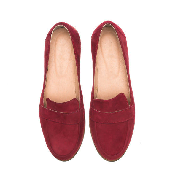 Handmade real leather ladies loafers