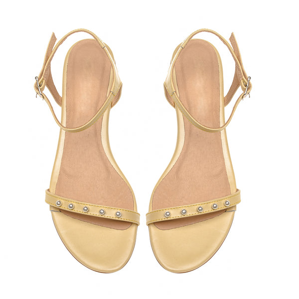 sandals in yellow colour handmade from high quality real leather