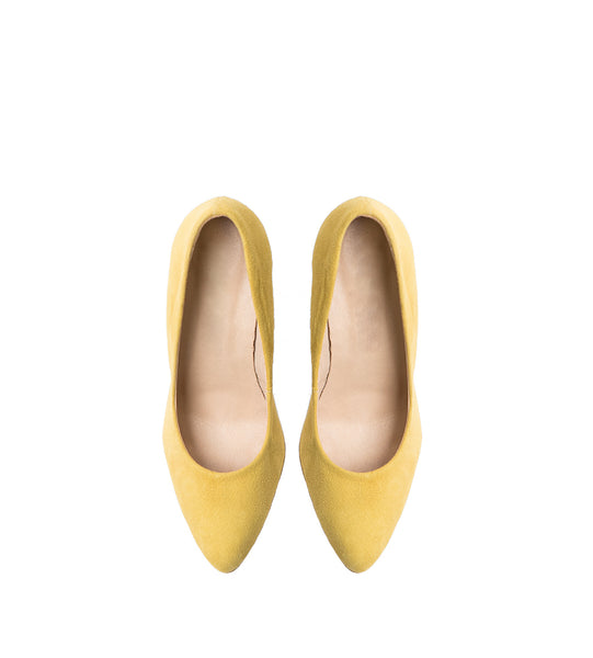 yellow office shoes very comfy and simple fashion from the best quality real leather