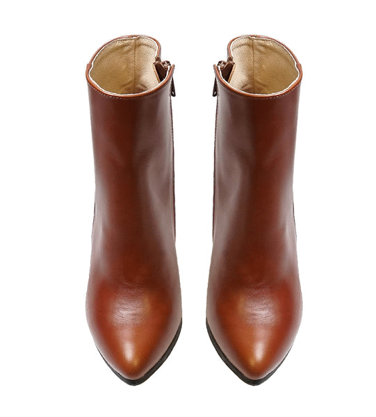 Brown boots handmade from real leather