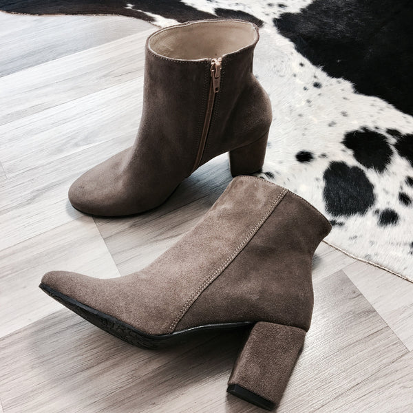 High heel ankle boots handmade from quality leather