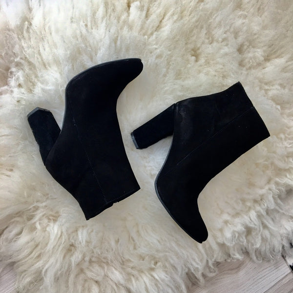 Suede real leather ankle boots