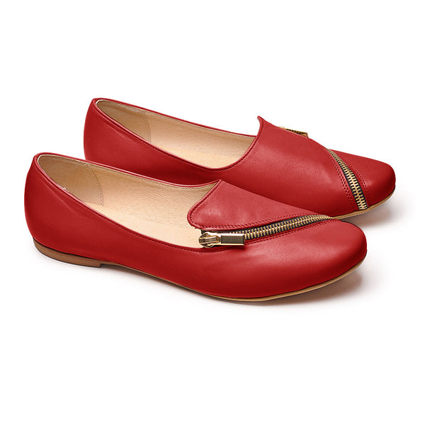 red real leather pumps very comfortable and stylish