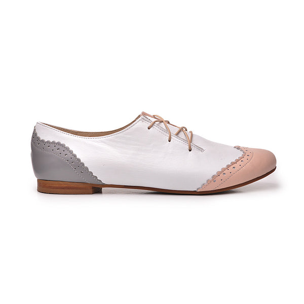 Real leather ladies lace up shoes