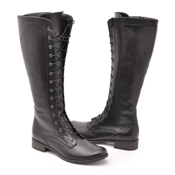 stylish winter boots handmade from quality real leather