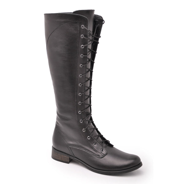 Real leather winter boots